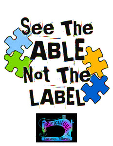 R14 - Autism Awareness- Ability- Shirt Panels