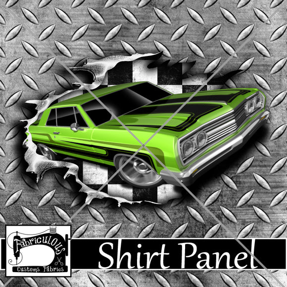 R24-  Green Car Shirt Panel