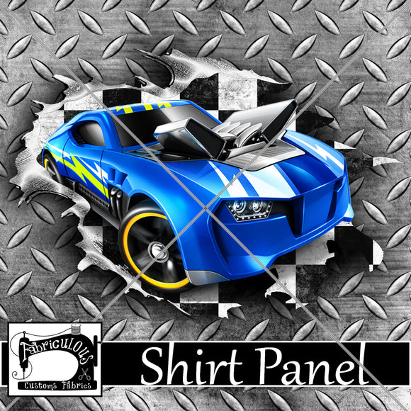 R24- Blue Car Shirt Panel