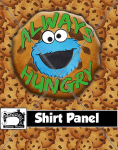 R28- Cookie Monster Shirt Panel