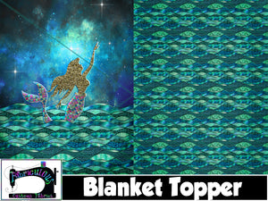 R19- Blanket Topper- Mermaid Nights