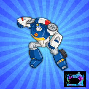 R12- Bots-Blue Bot- Shirt Panels