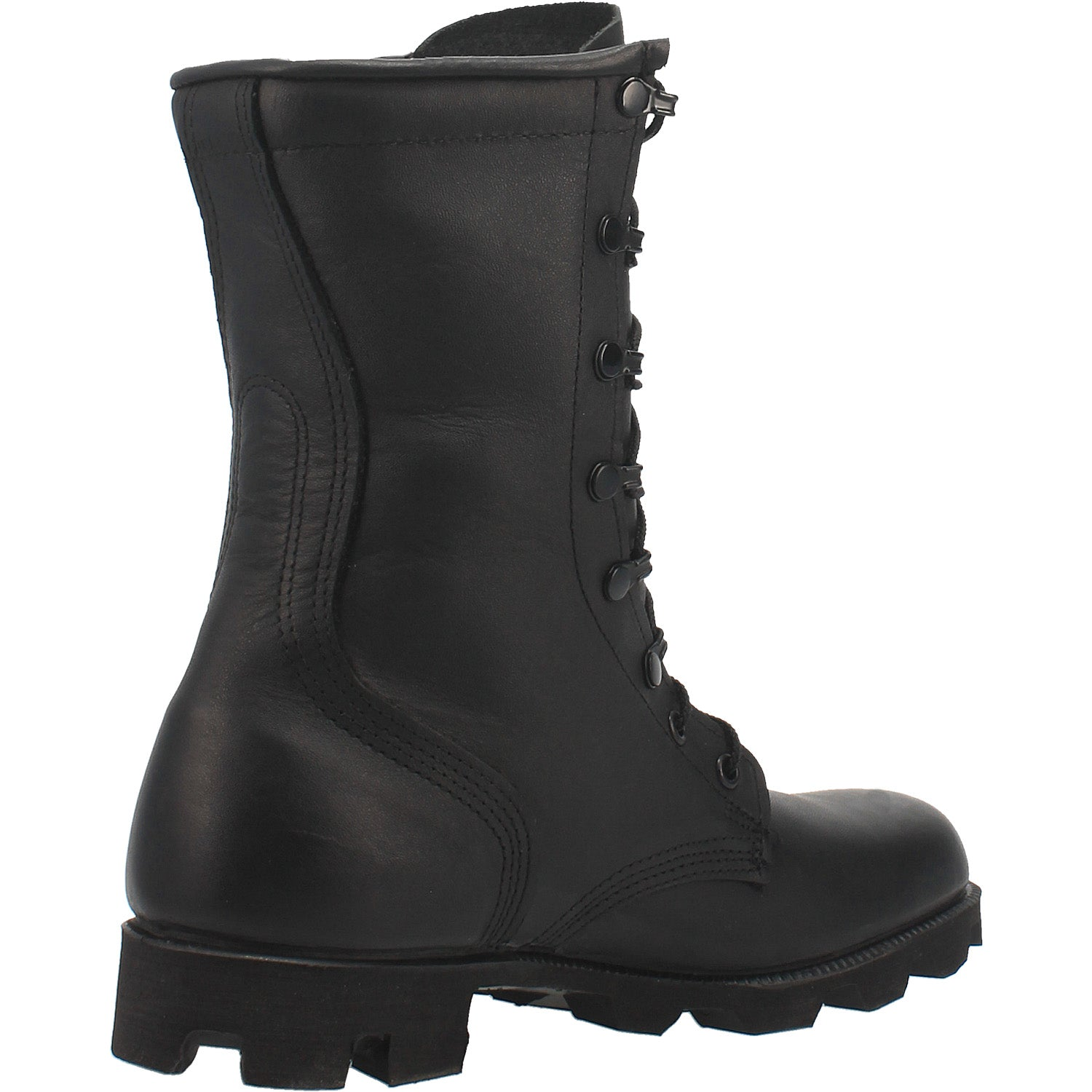 Black All-Leather Combat Boot with Panama Sole 27986670780458