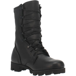 Black All-Leather Combat Boot with Panama Sole - Dan Post Boots