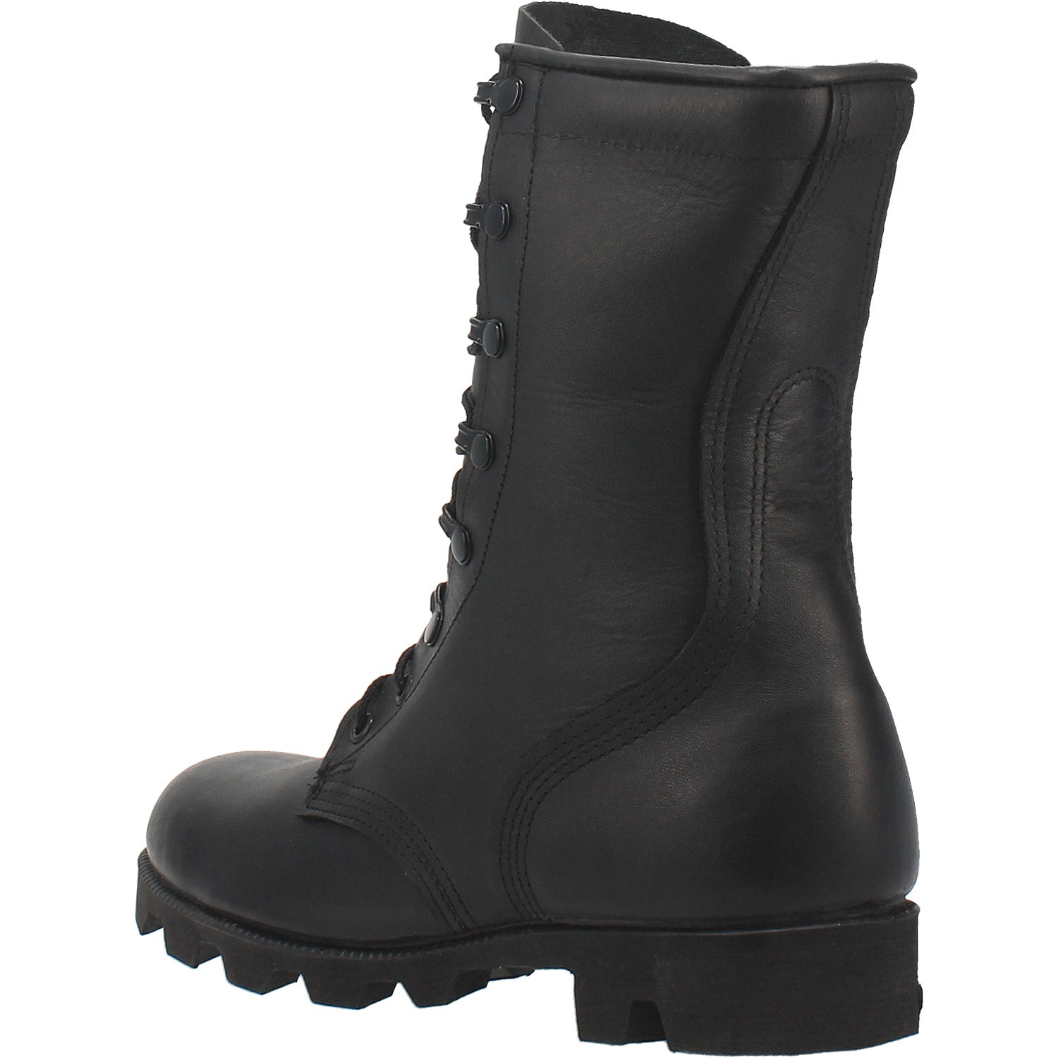 Black All-Leather Combat Boot with Panama Sole 27986670551082