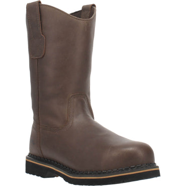 Angle 1, 11 INCH PULL-ON LEATHER BOOT