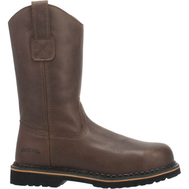 Angle 2, 11 INCH PULL-ON LEATHER BOOT