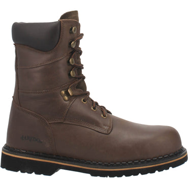 Angle 2, 8 INCH LACE-UP STEEL TOE LEATHER BOOT