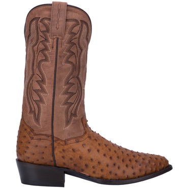 Angle 2, TEMPE FULL QUILL OSTRICH BOOT
