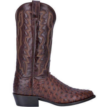 Angle 2, PERSHING FULL QUILL OSTRICH BOOT