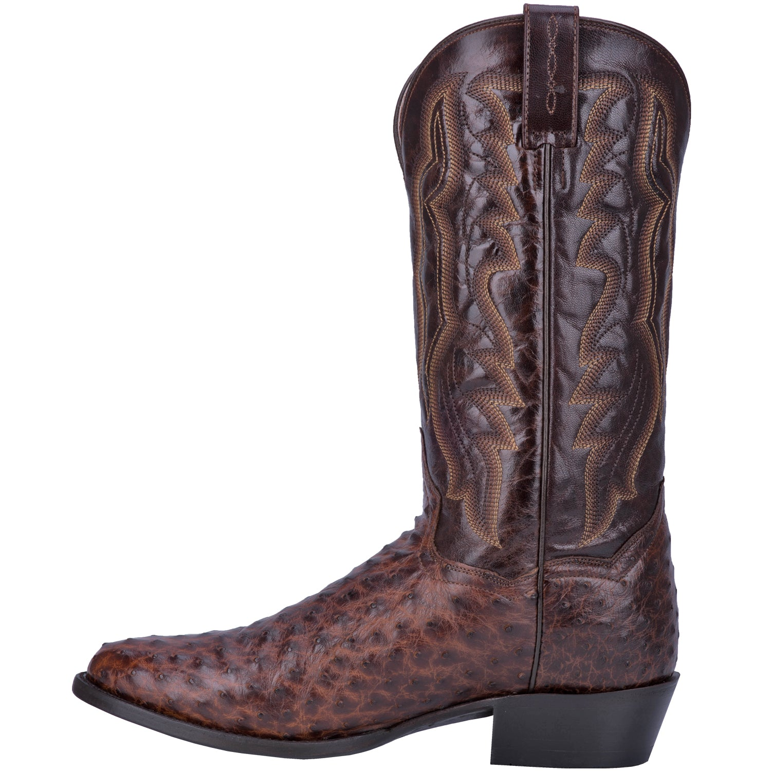 PERSHING FULL QUILL OSTRICH BOOT