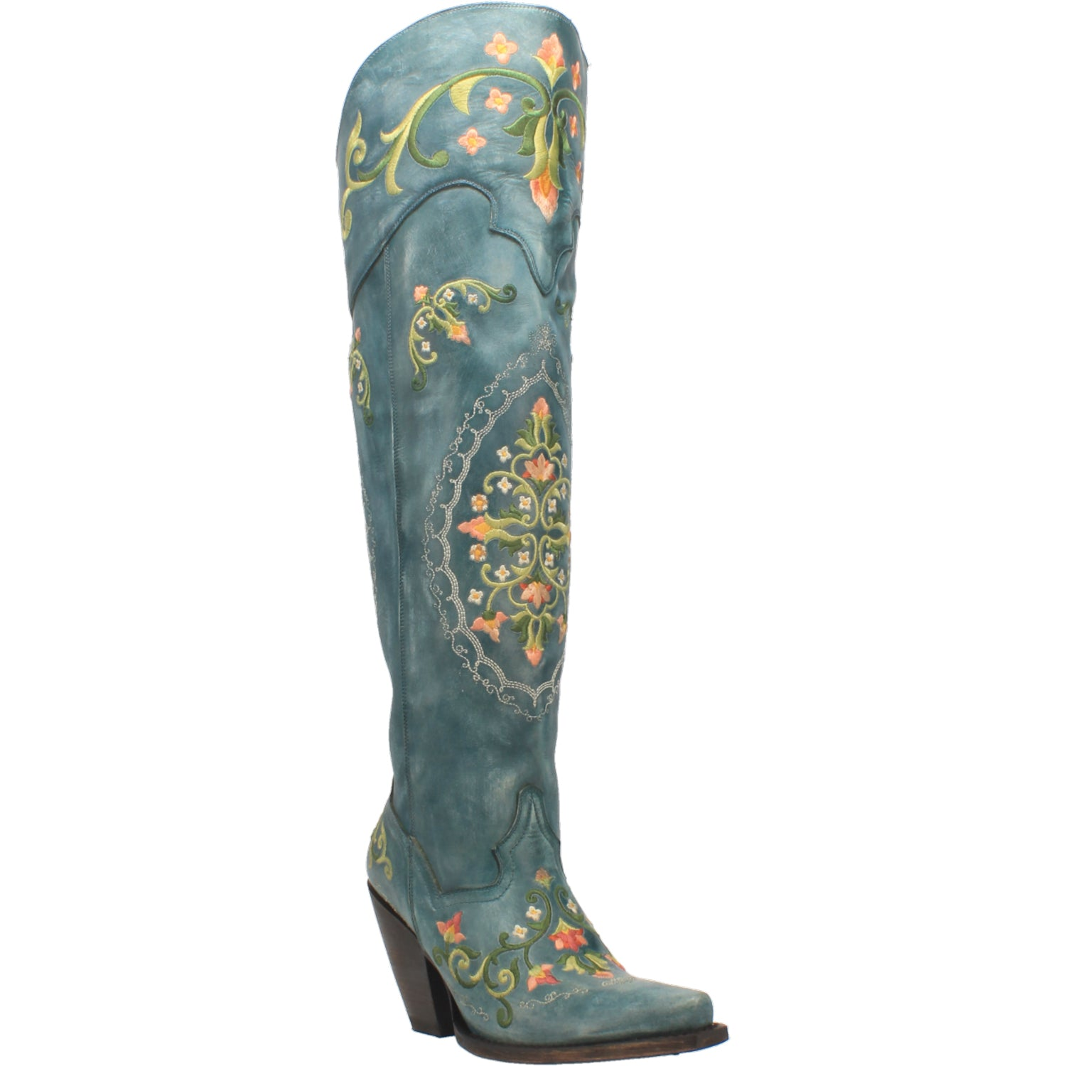 FLOWER CHILD LEATHER BOOT 15267551117354