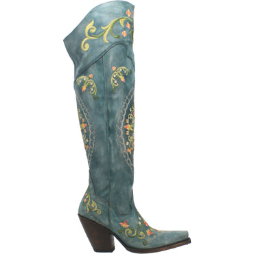 FLOWER CHILD LEATHER BOOT