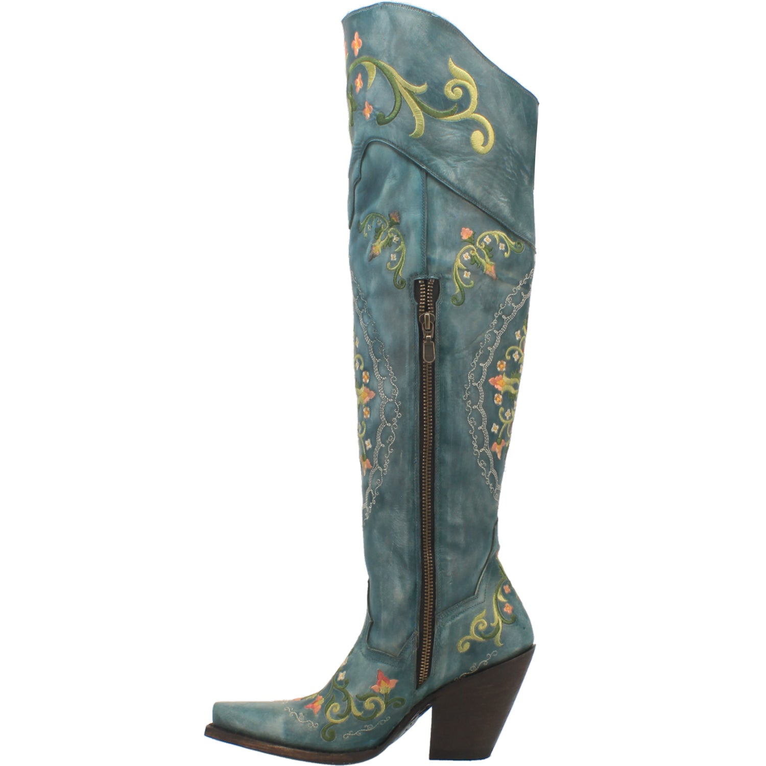 FLOWER CHILD LEATHER BOOT 15267551281194