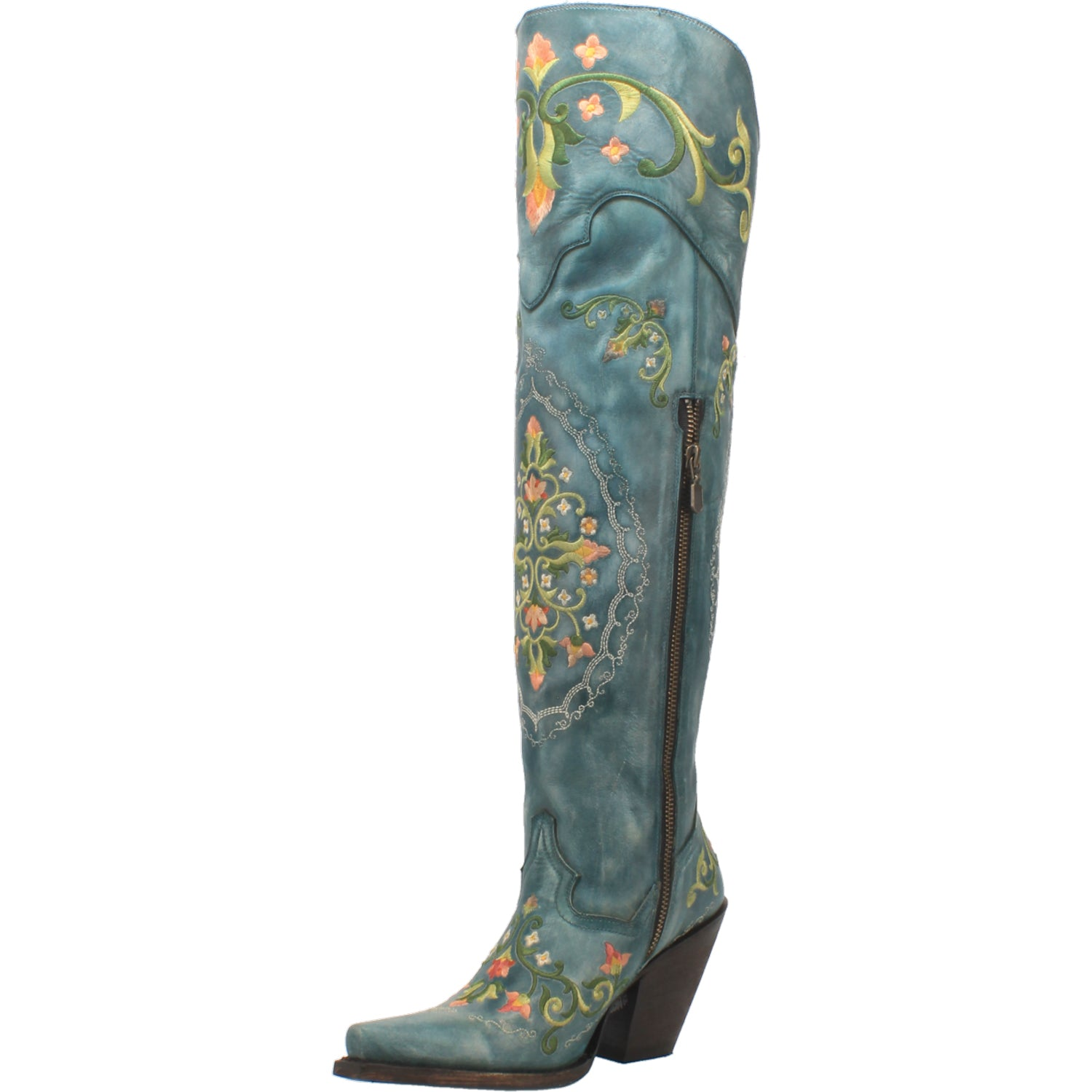 FLOWER CHILD LEATHER BOOT 15267551313962