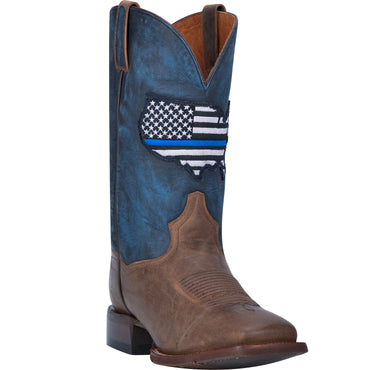 Angle 1, THIN BLUE LINE LEATHER BOOT