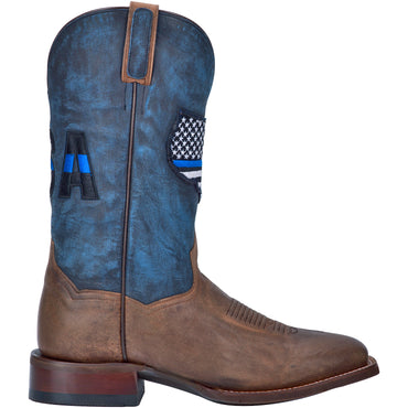Angle 2, THIN BLUE LINE LEATHER BOOT