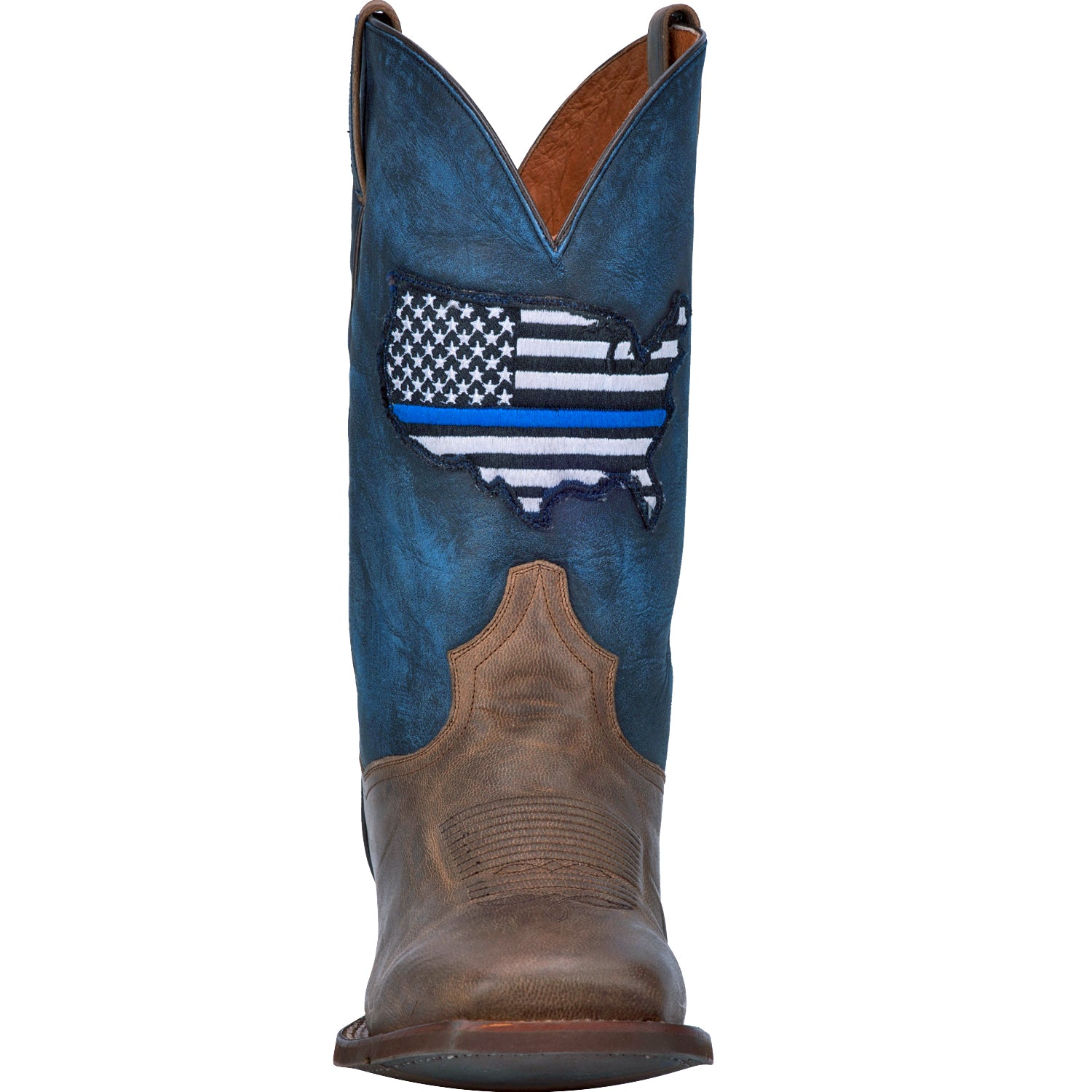 THIN BLUE LINE LEATHER BOOT 4197236211754