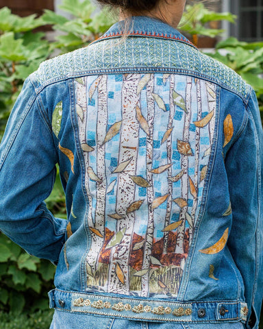 Beach OOAK Oversized Denim Jacket - Large