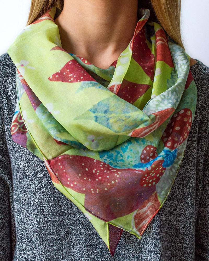 Autumn Breeze Silk Scarf