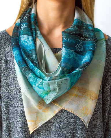 Sail Boats Silk Scarf