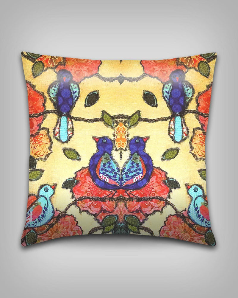 Birds and Flowers Pillow