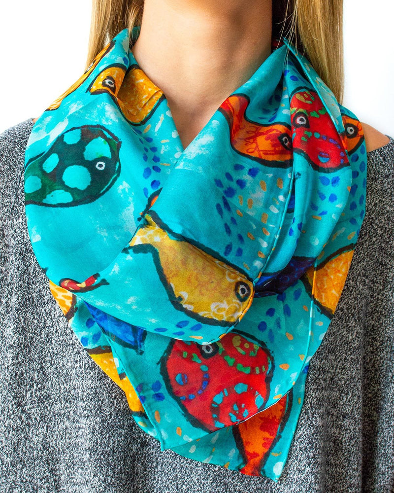 Fish Silk Scarf