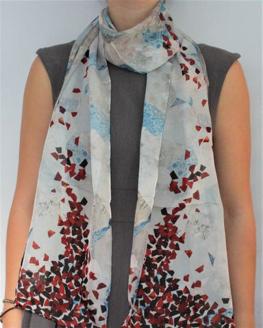 White Grape Silk Scarf
