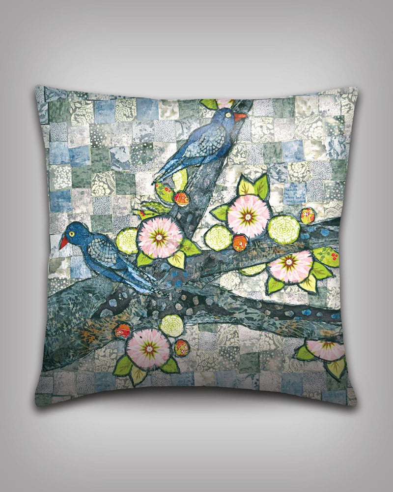 Grey Birds Pillow