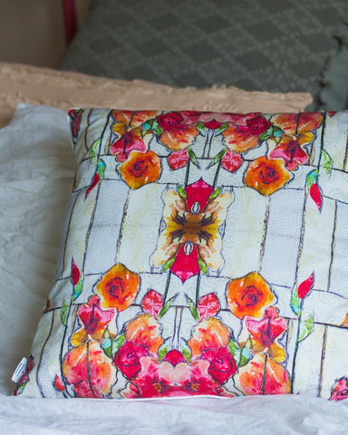 White Barn Pillow
