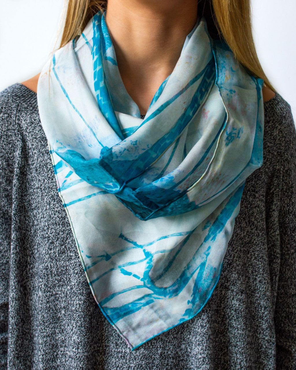 Misty Dawn Silk Scarf