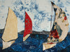 Sailboats (right portion) on Gallery Wrap Canvas