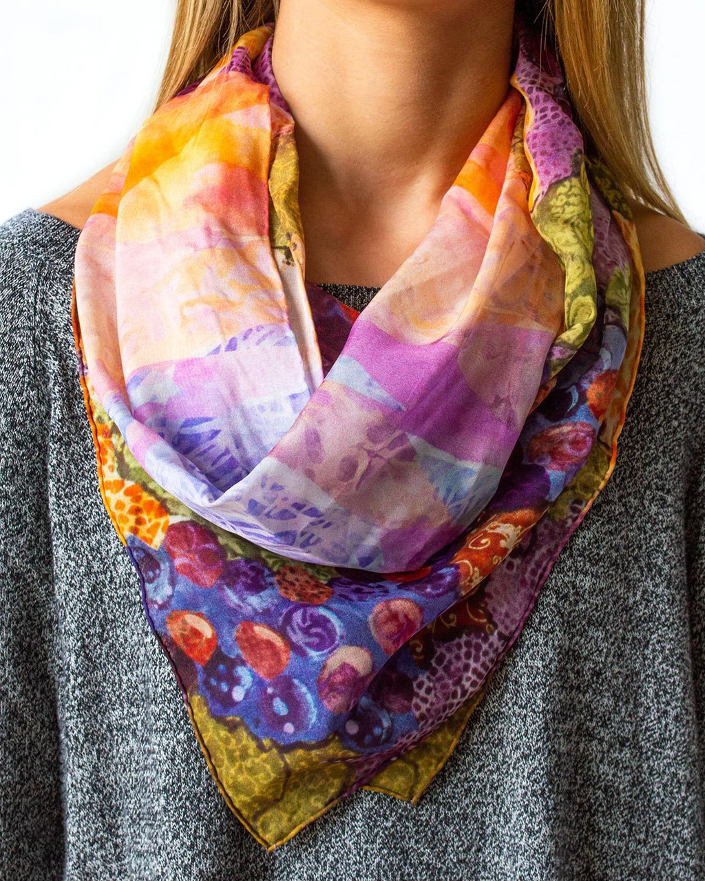 Red Grape Silk Scarf