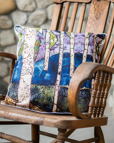 Autumn Birches Pillow