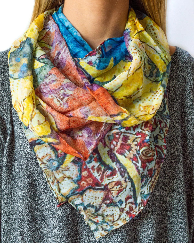 Sunflower Silk Scarf
