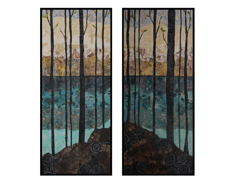 View From Shore Diptych - Original