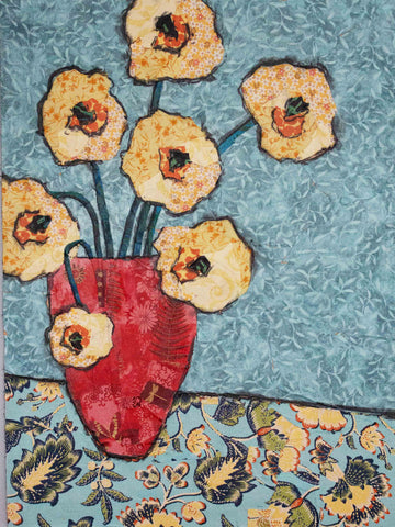 Blue Vase Still Life on Gallery Wrap Canvas