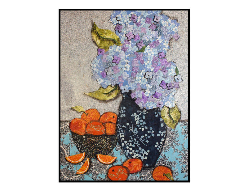 Hydrangea and Oranges on Gallery Wrap Canvas