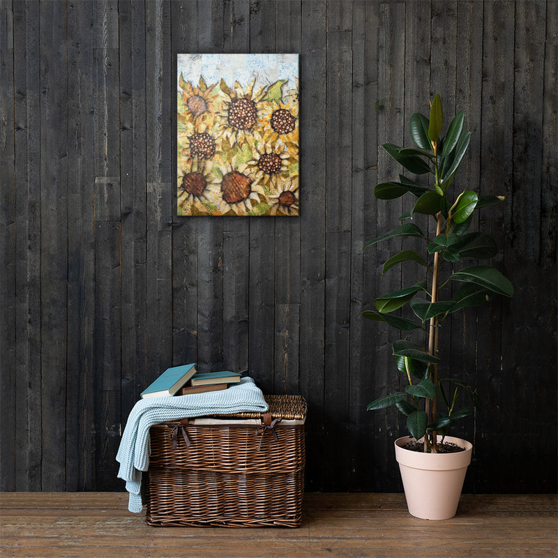 Sunflowers on Gallery Wrap Canvas