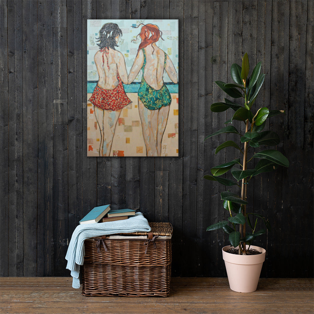 Balcony Girls on Gallery Wrap Canvas