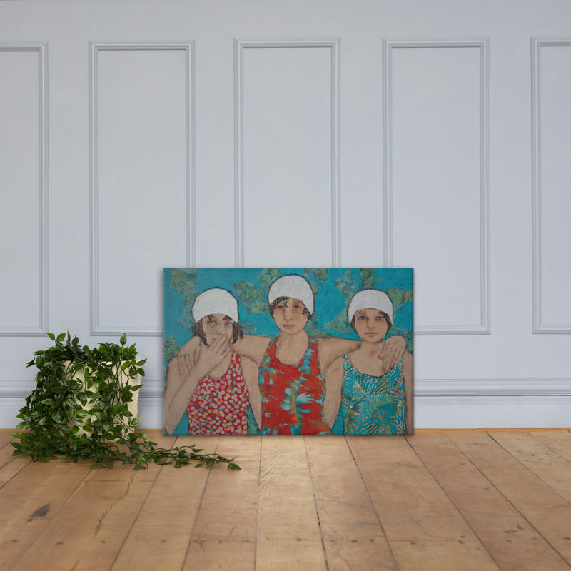 Strong Swimmers on Gallery Wrap Canvas
