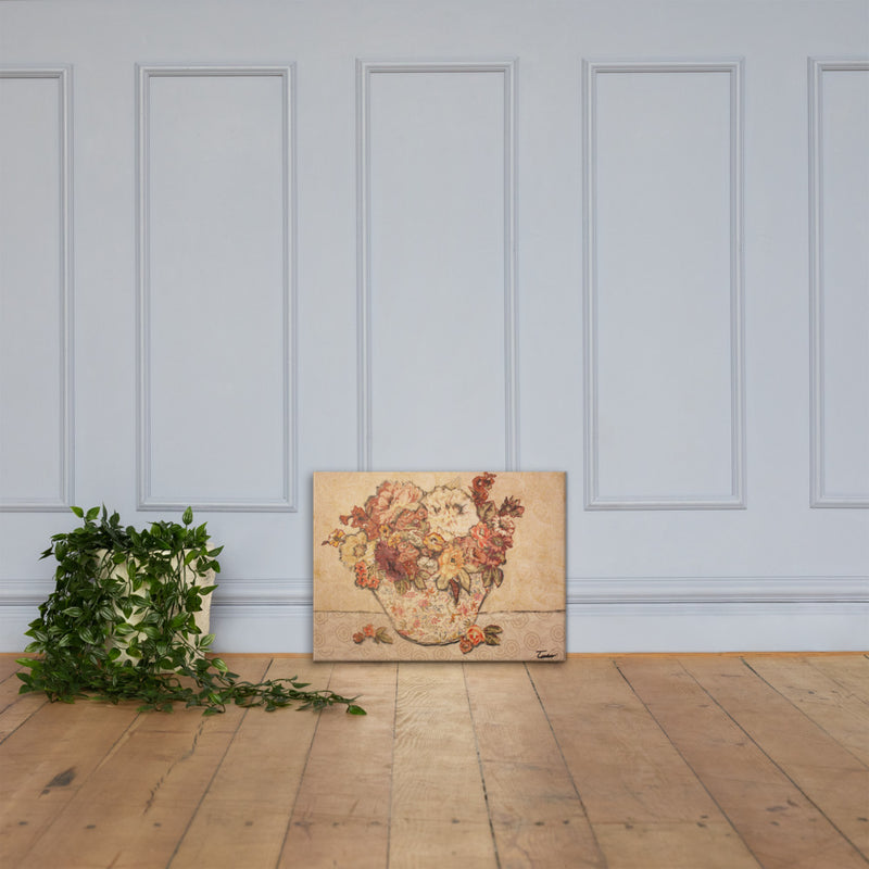 White Still Life on Gallery Wrap Canvas