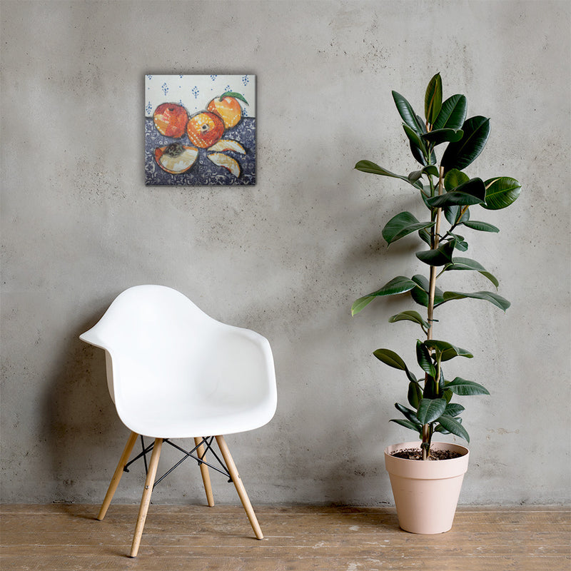 Sliced Peaches on Gallery Wrap Canvas
