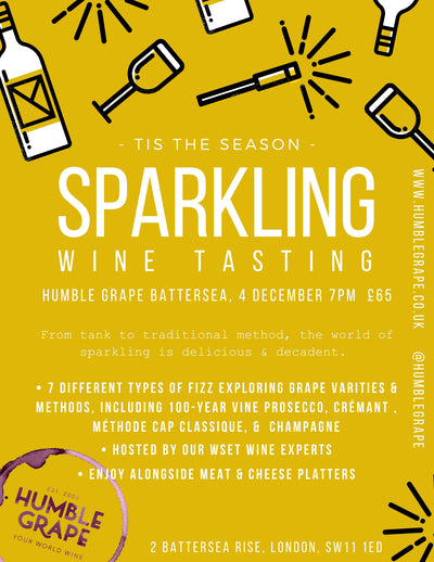 Sparkling Wine Tasting at Humble Grape Battersea