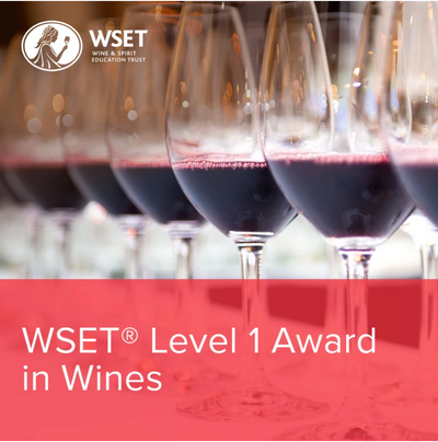 WSET Level 1 Online: The Course (8/9, 15/9, 16/9) Evenings