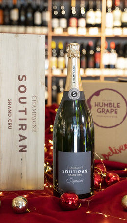 Soutiran Signature Grand Cru Brut, NV, Champagne, France MAGNUM in Gift Box