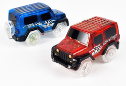 LED CARS FOR GLOW RACING CAR PLAY SET (2 CARS)