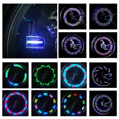 LED Bike Wheel Light Waterproof *30 Patterns