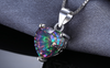 Rainbow Mystic Topaz Heart Pendant 4.35ct *Sterling Silver