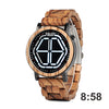 Night Vision Digital Wooden Watch